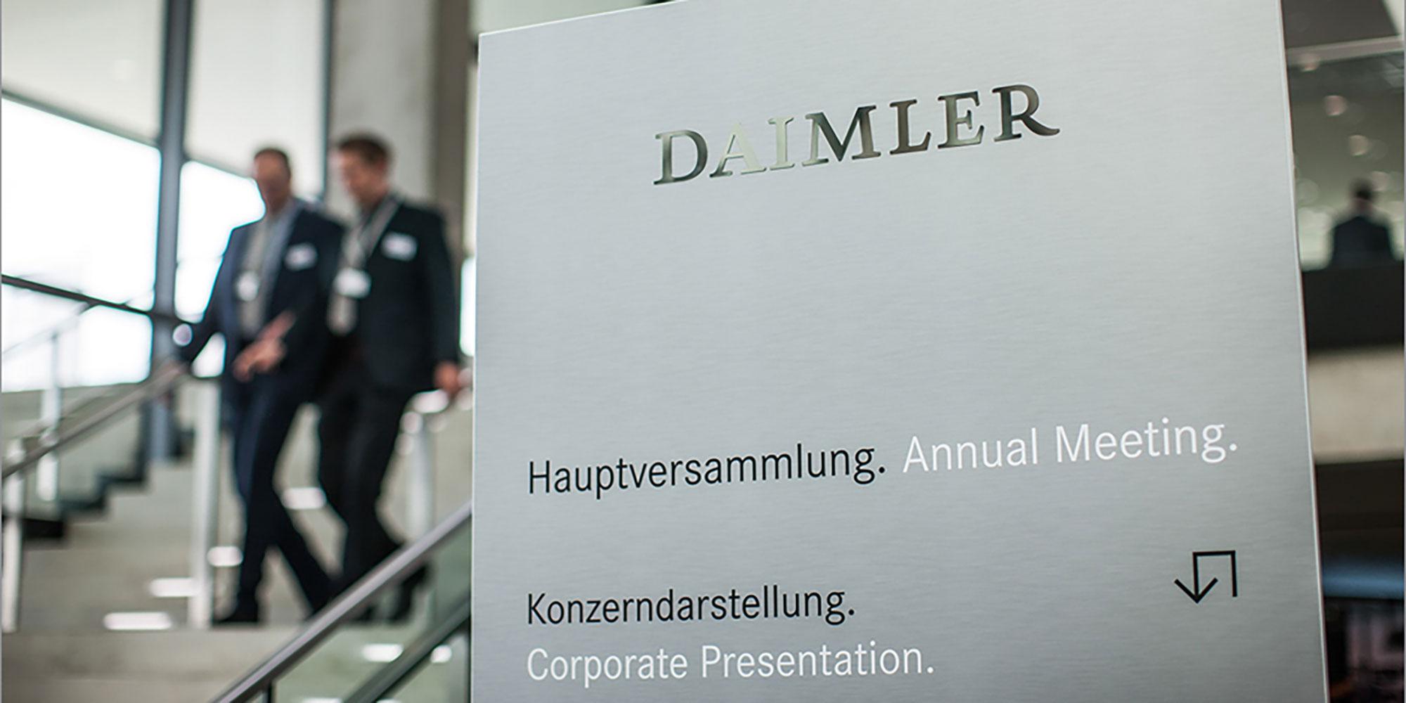 Daimler Hauptversammlung Berlin