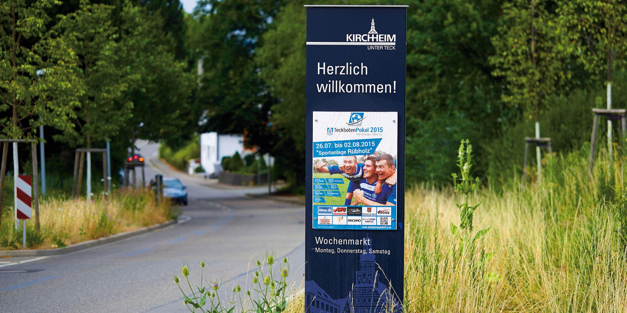 Wegeleitsystem der Stadt Kirchheim unter Teck