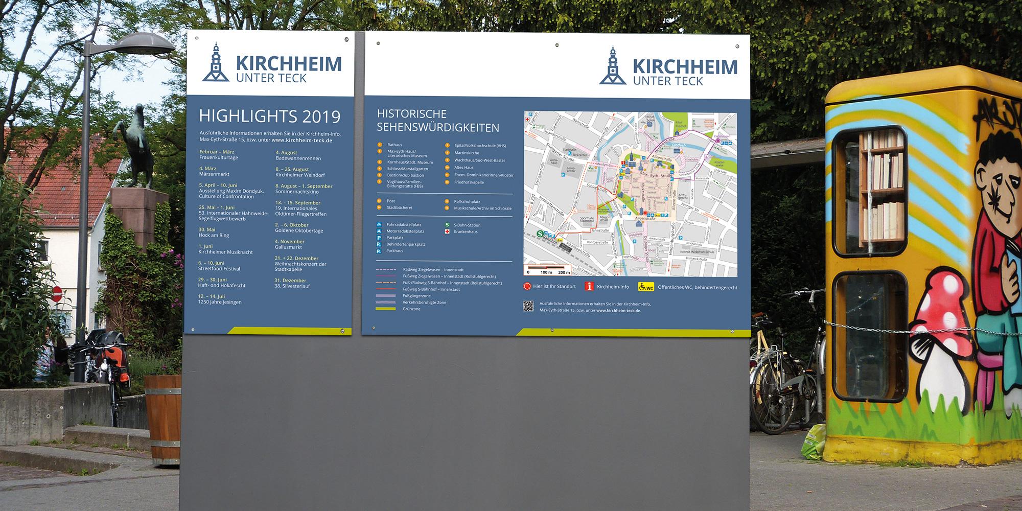 Stadt Kirchheim Beschilderung im neuen CD