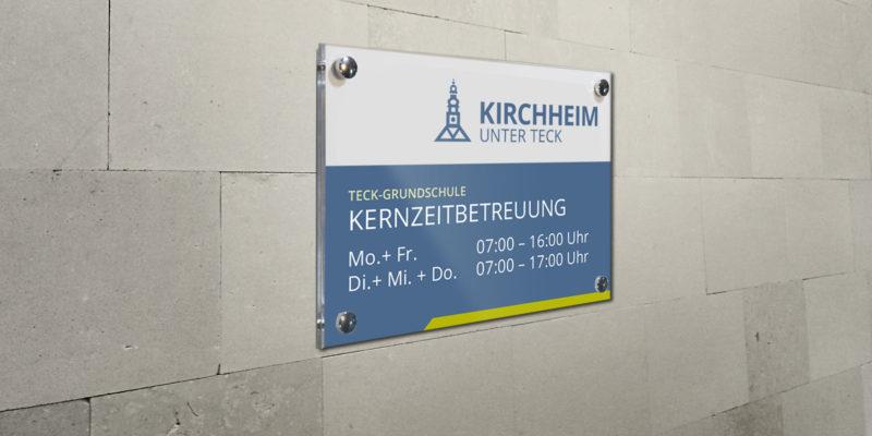 Stadt Kirchheim Sonderschilder im neuen CD